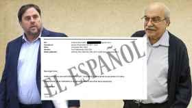 Junqueras y su antecesor en Economía, Mas-Colell, y el correo que el segundo envió al primero.