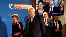 El principal candidato de la CDU y Primer Ministro del Estado de Hesse, Volker Bouffier.