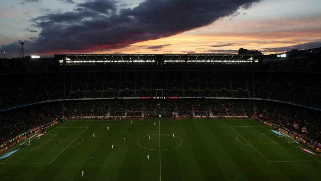 El Camp Nou, durante El Clásico