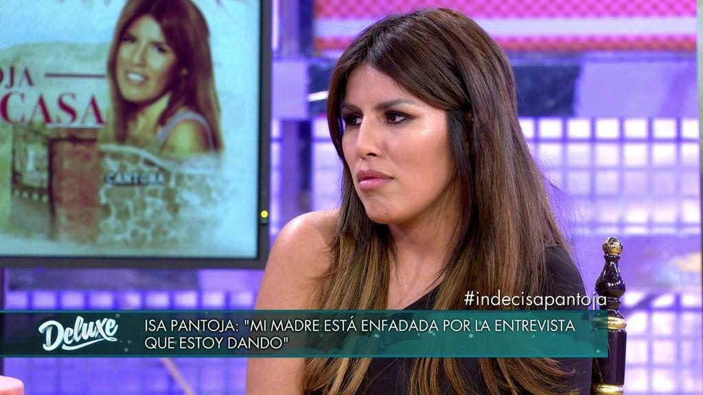 Chabelita durante su entrevista en 'Sábado Deluxe'.