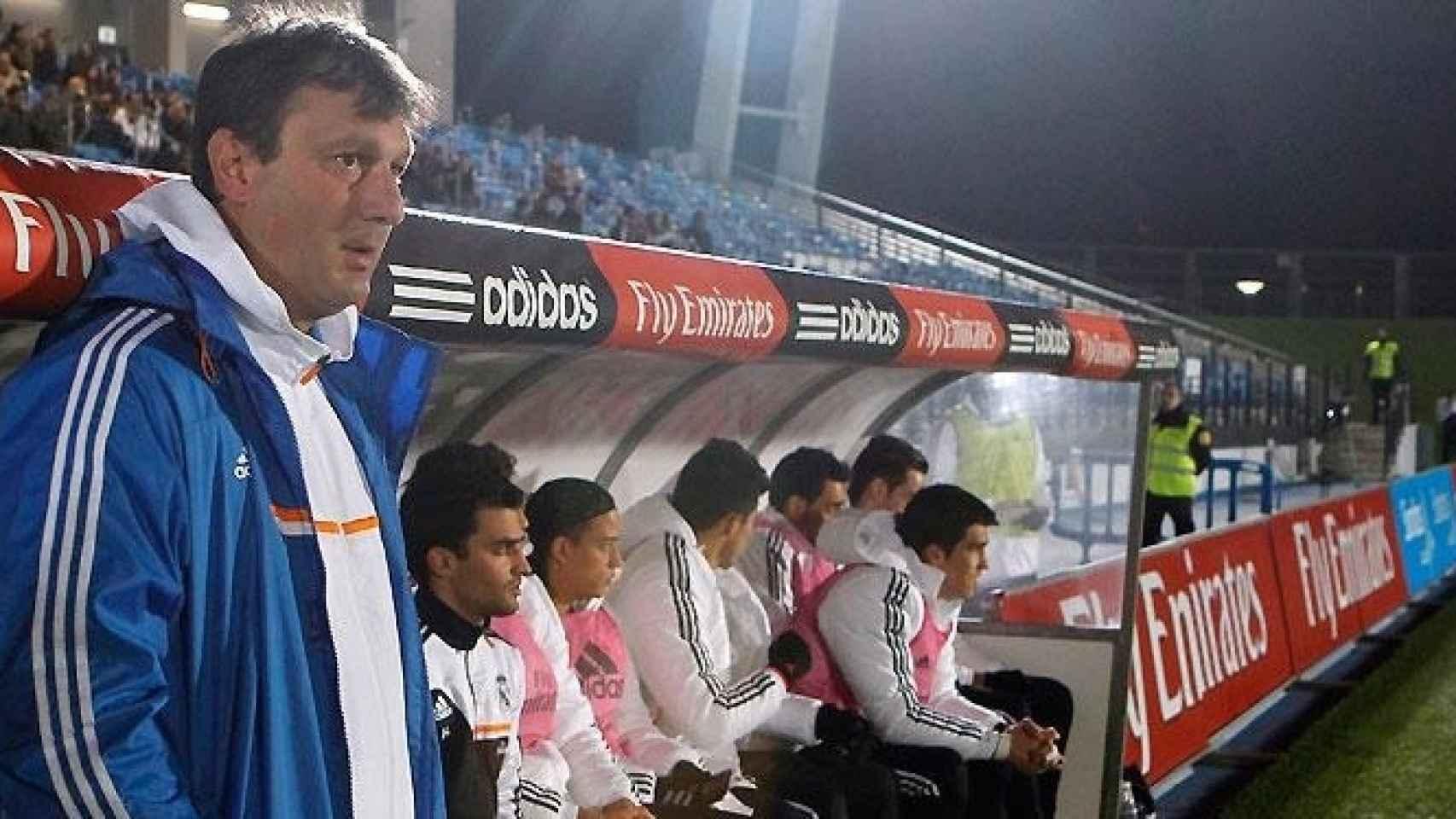 Manolo Díaz durante su etapa en el Real Madrid