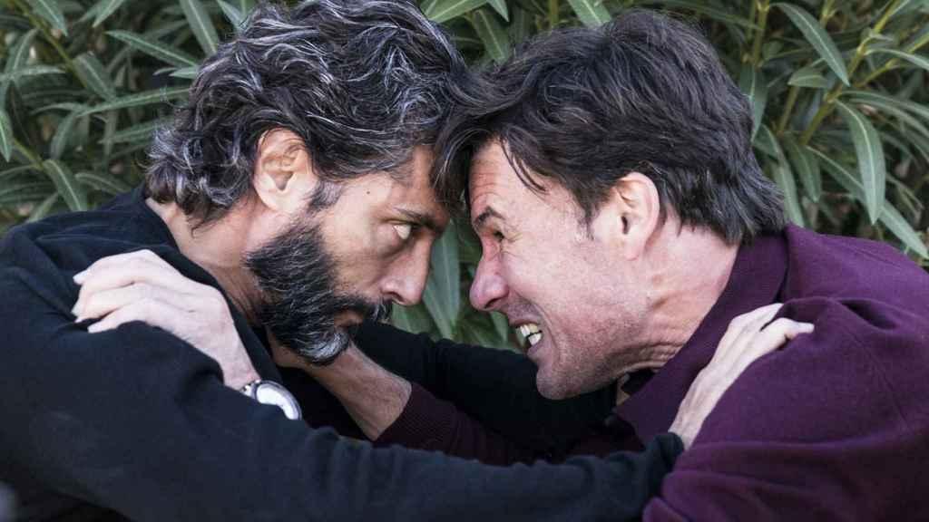 Joaquín Furriel y Daniel Grao en la película.