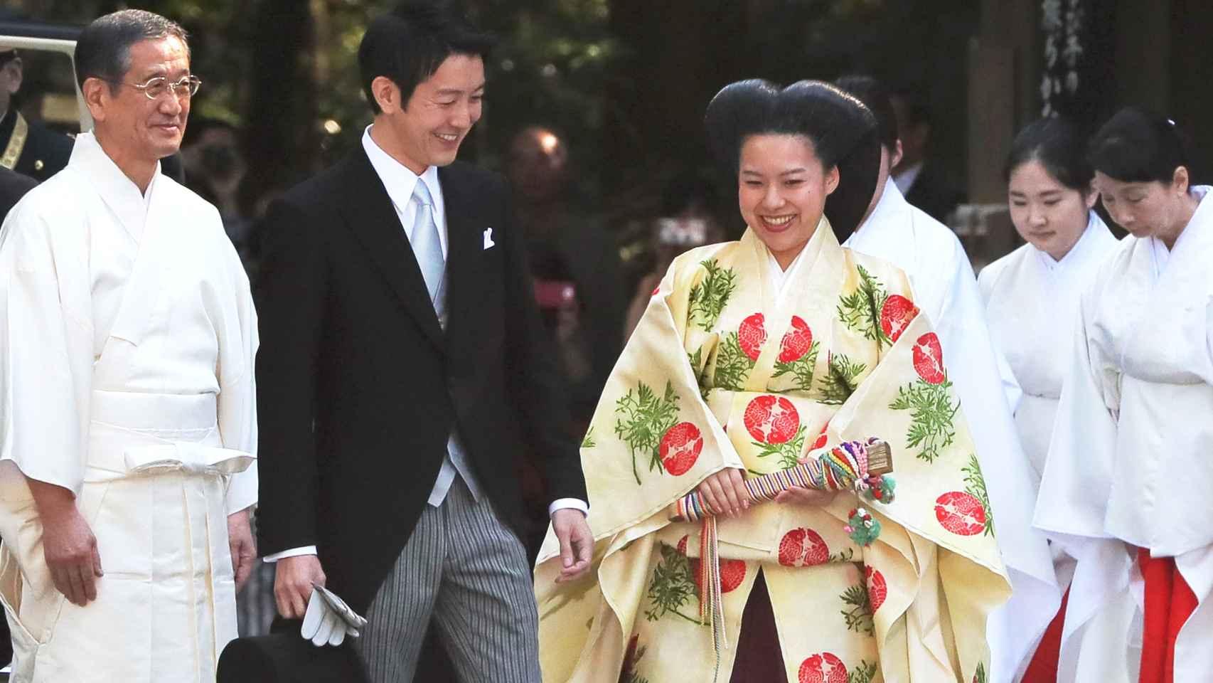 La boda de Ayako y  Kei Moriya, en imágenes