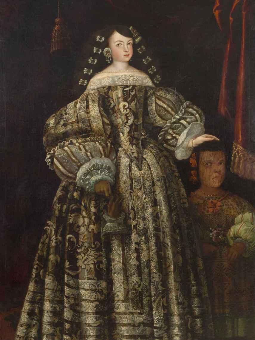 Retrato de María Luisa de Toledo y la mujer enana indígena.