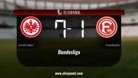 Triunfo del Eintracht Frankfurt por 7-1 frente al Fortuna Düsseldorf