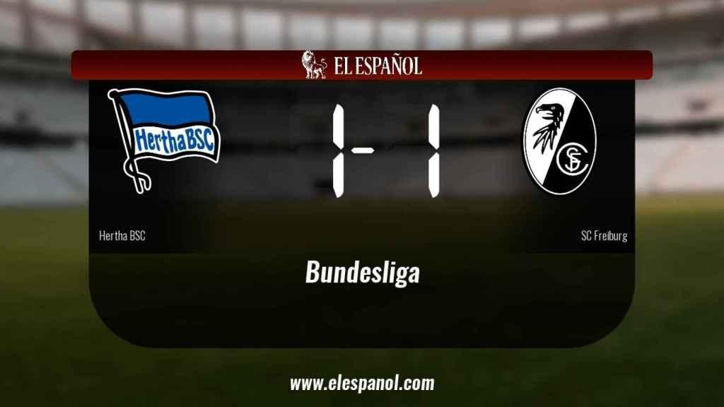 El SC Freiburg logra un empate a uno frente al Hertha BSC