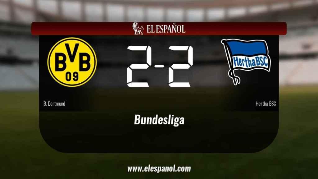 El Borussia Dortmund no pudo conseguir la victoria ante el Hertha BSC (2-2)