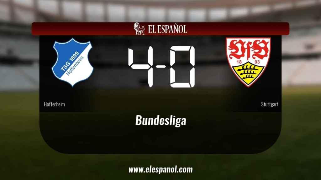 Victoria 4-0 del Hoffenheim frente al Stuttgart