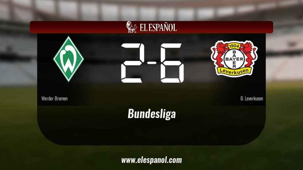 El Bayern Leverkusen venció a domicilio al Werder Bremen