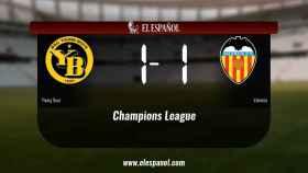 El Young Boys y el Valencia sólo sumaron un punto (1-1)