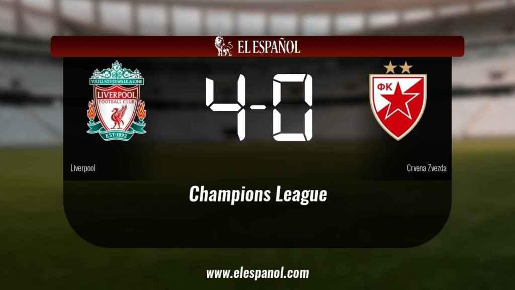 El Liverpool venció como local al Crvena Zvezda