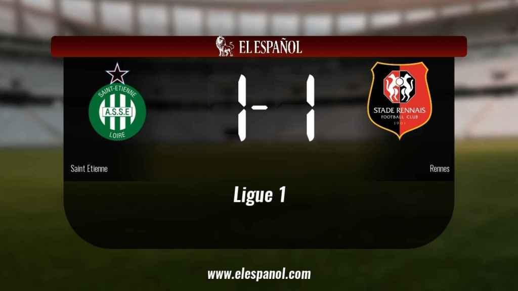 El Rennes logra un empate a uno frente al Saint Etienne