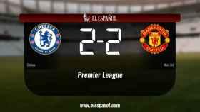 Empate a dos entre el Chelsea y el Manchester United