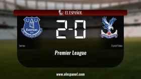 El Everton venció en su estadio al Crystal Palace
