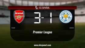 El Arsenal venció en casa al Leicester