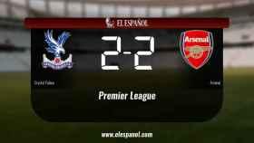 El Crystal Palace y el Arsenal se repartieron los puntos tras un empate a dos