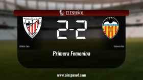Empate, 2-2, entre el Athletic Club y el Valencia Femenino