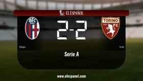 Empate, 2-2, entre el Bolonia y el Torino