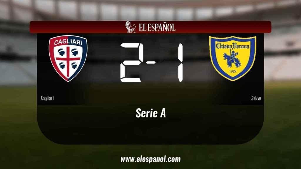 Triunfo del Cagliari por 2-1 frente al Chievo