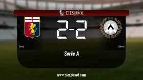 El Génova y el Udinese empatan (2-2)