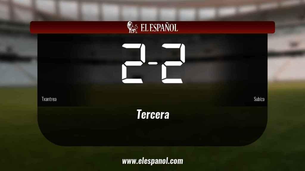 El Txantrea no pudo conseguir la victoria frente al Subiza (2-2)