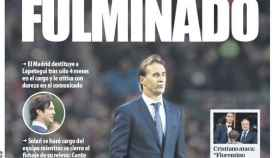 Potada del diario Mundo Deportivo. (30/10/2018)