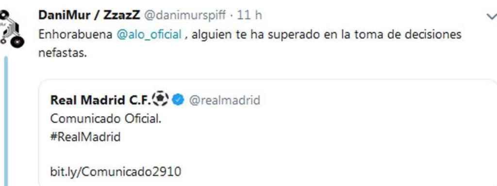 El tuitero que se llevó un zasca de Fernando Alonso
