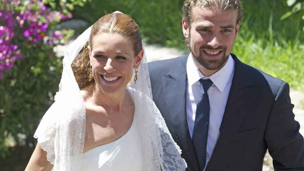 Mario Biondo y Raquel Sánchez Silva en su boda.
