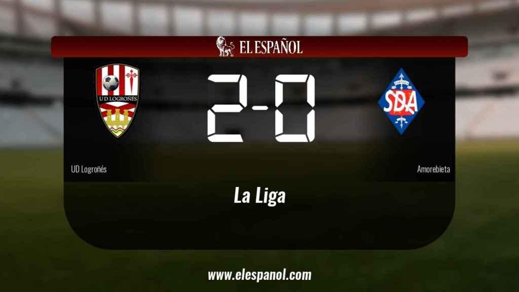 El Logroñés derrotó al Amorebieta por 2-0