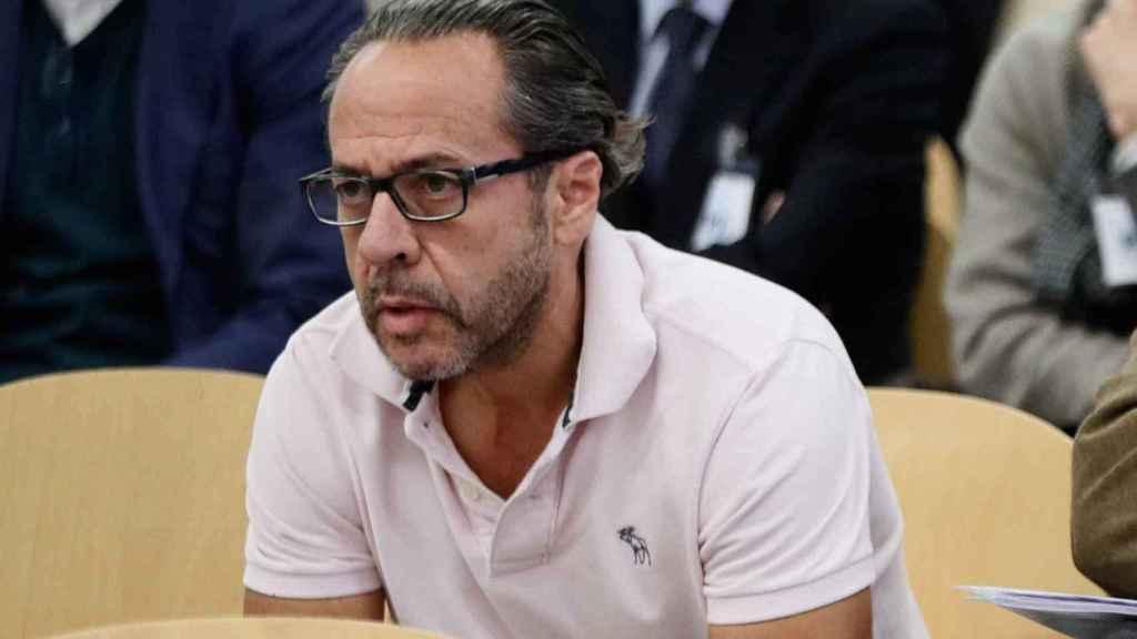 Álvaro Pérez 'El Bigotes' durante su declaración en la Audiencia Nacional.