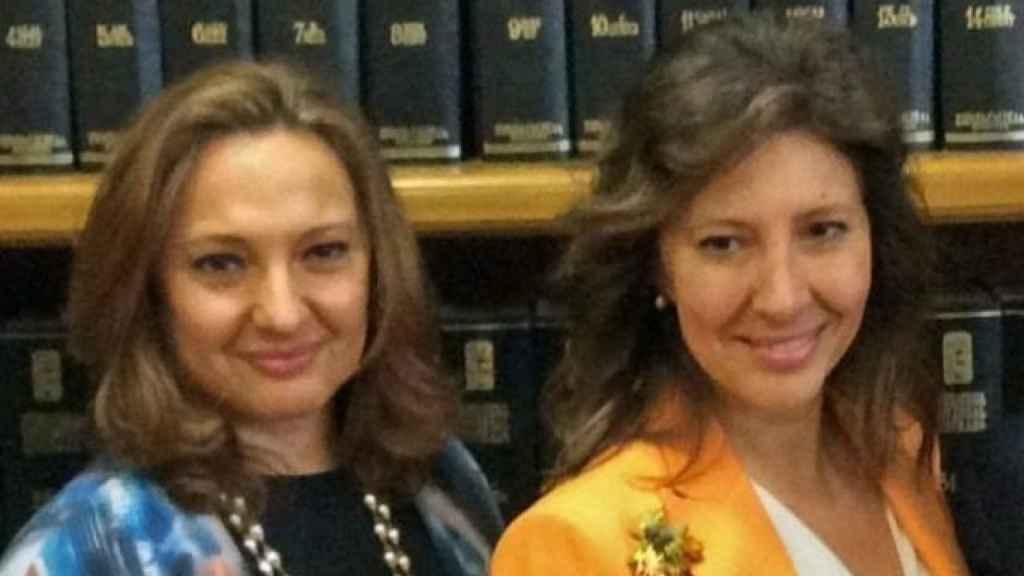 Marta y Cristina Álvarez, accionistas de El Corte Inglés e hijas de Isidoro Álvarez.
