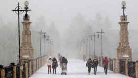 Imágenes del primer temporal del nieve del año pasado, en diciembre.