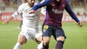 Munir en un partido con el Barcelona