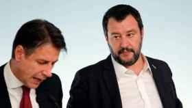 El primer ministro Giuseppe Conte y su número dos, Matteo Salvini