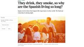 The Times no entiende por qué los españoles vivimos tanto
