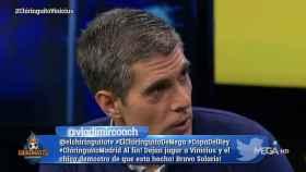 José Luis Sánchez en El Chiringuito. Foto: Twitter (@elchiringuitotv)