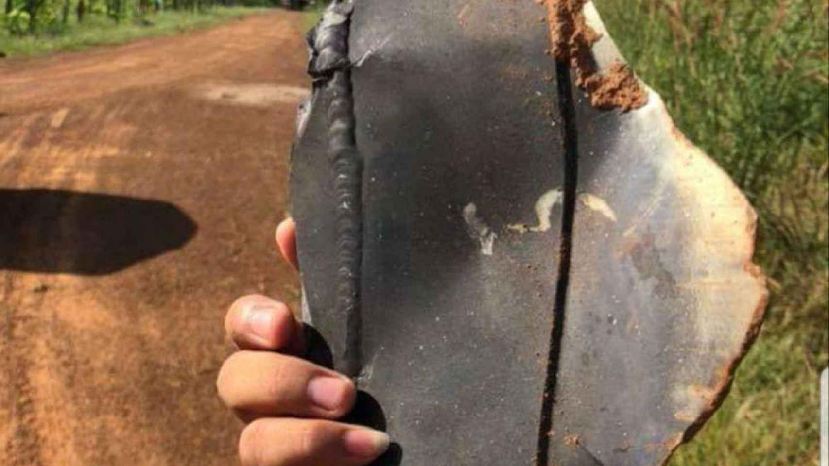 Los objetos cayeron en un radio de 10 kilómetros a la redonda