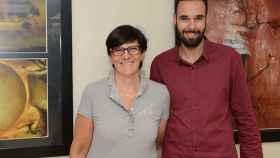 Los investigadores de la Universidad de Barcelona, Cristina Manzanares y Miguel Dalmau.