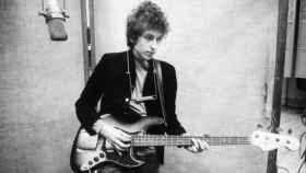 Bob Dylan durante la grabación de 'Blood on the Tracks'.