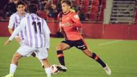 Pablo Ramón en su debut con el Real Mallorca. Foto: Twitter (@RCD_Mallorca)