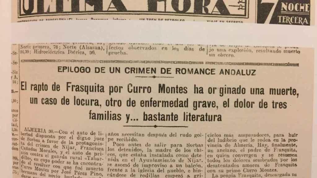 Portada del Heraldo de Madrid tras la resolución de todos los enigmas.