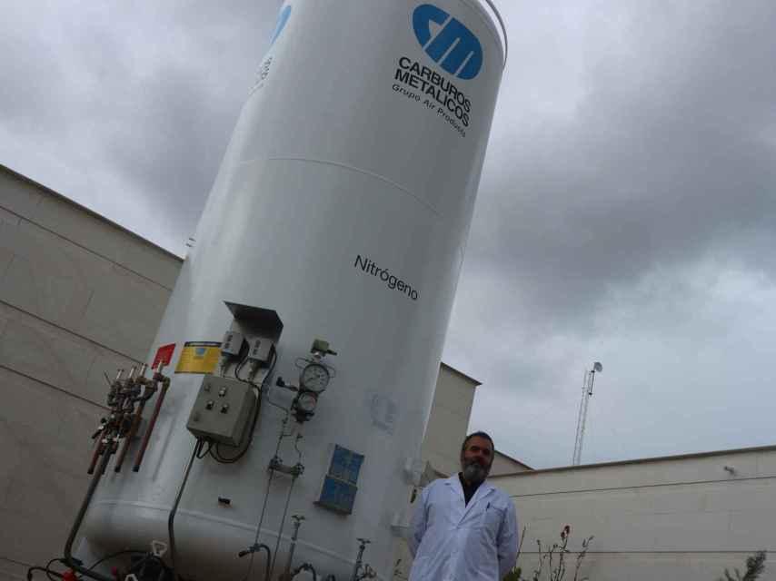 El tanque de nitrógeno es lo único que tienen, a día de hoy, instalado de la tecnología que precisan.