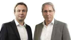 Peter Stonn, a la izquierda, y Wolfgang Schmitz, derecha, creadores del método Improved Reading.
