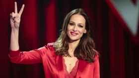 Eva González en la presentación de 'La Voz'.