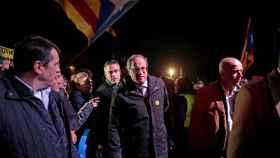 Quim Torra, presidente de la Generalitat de Cataluña, a las puertas de Lledoners.