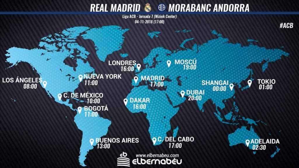 Horario Real Madrid - Morabanc Andorra