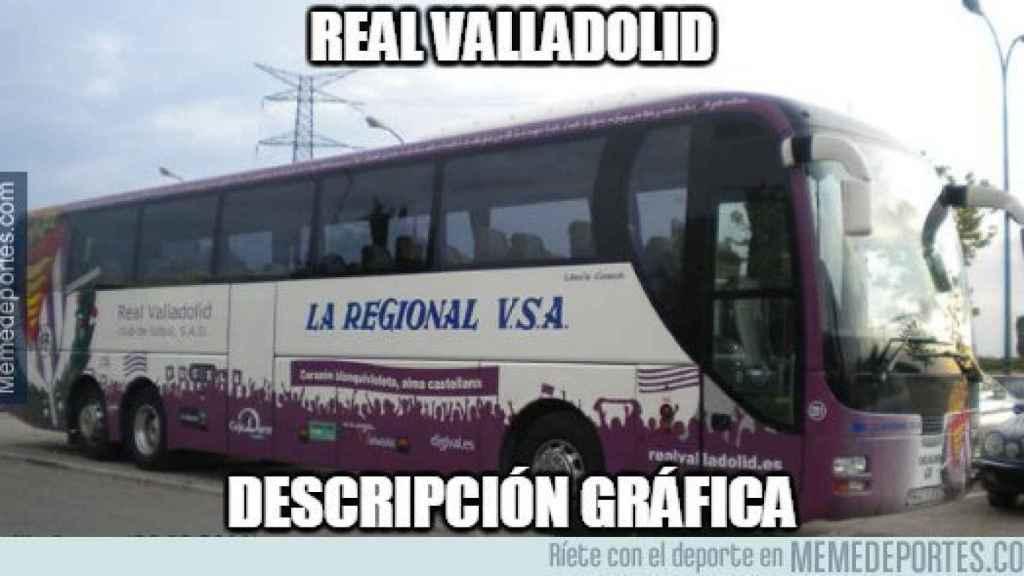 Así ven muchos a la defensa del Valladolid. Foto: memedeportes.com