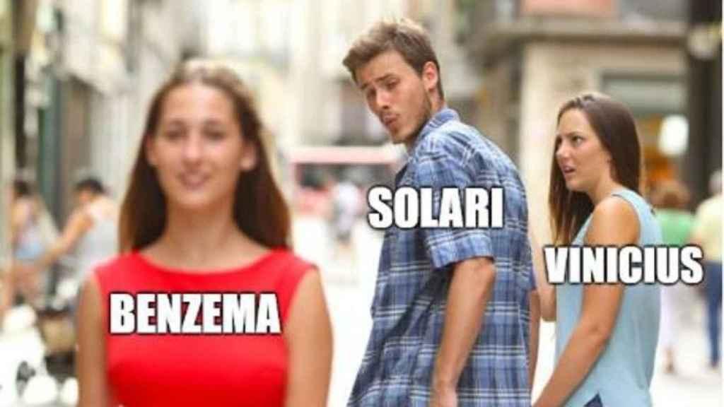 Solari apostó por Benzema de inicio.