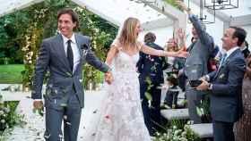 Gwyneth Paltrow, feliz el día de su boda.