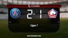El PSG derrota en casa al Lille por 2-1